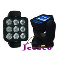 Wholesale Led Lighting Matrix - 9pcs 10W Matrix and Wash LED Moving Head Light 120w 15CH AC 110V-240V one year warranty