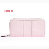 Wholesale Leather Brown Pillow - fashion women PU leather wallet long zipper purse European style new arrival colors15-67