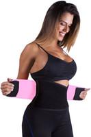 Wholesale Best Fitness Exercises - Women Adjustable Waist Trimmer Belt Weight Loss Waist Trainer Best Fitness & Exercise Slimming Body Waist Shaper Tummy Trimmer 50011