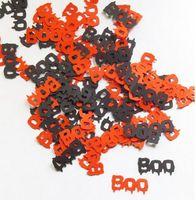 ingrosso matrimonio arancione glitter-Personalizzato 150pcs glitter Arancione e nero Boo confettis tavolo da sposa disperde decorazioni natalizie di addio al nubilato natale doccia