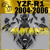 Wholesale Classic Fairings - Five Gifts Motoegg Motorcycle Fairings Injection Mold For Yamaha YZF-R1 2004-2006 YZF R1 04 05 06 Bodywork YZFR1 Classic All Black Y14M41