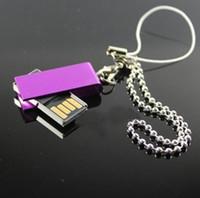 mini msata usb toptan satış-10 ADET Hiçbir logo Mini döndür 4 GB USB Flash Sürücü Mini Dönebilen USB Anahtar Whril USB Bellek Sopa 8 GB USB2.0