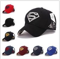 Wholesale Snapback Superman Cheap - High Quality Awesome Cap Superman Snapback Hat, Cheap Baseball Steampunk Movie Crochet Caps Snapbacks Superman Hats, Basketball Hats for Men