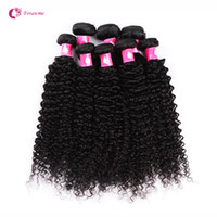 Wholesale curly human hair for weaving resale online - bundles A Virgin Brazilian Afro Curly Wave Hair Weaves B Natural Black Human Remy Hair Weft For Black Women Forawme