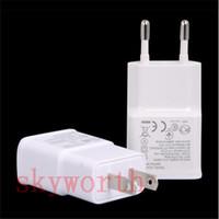 зарядное устройство для автомобильных телефонов оптовых-ЕС США USB Зарядное Устройство Полный 2А Адаптер Питания для Samsung Galaxy Note 3 4 5 N7100 S4 S5 S6 edge