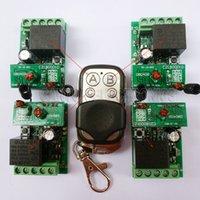 llave del controlador remoto de la pc al por mayor-DC 24V 1 Key Fob Control 4 piezas 1 canal RF Remote Control Controller Controller