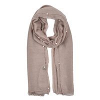 Wholesale Winter Skin Ladies - fashion women scarf simple light rendering ladies winter warm scarves close to skin beads ornament SF841