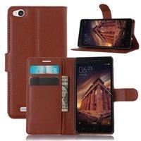 Wholesale Mi3 Flip Case - Xiaomi Redmi Mi3 Redmi 3 Case Cover Wallet Style PU Leather Case Cover for Xiaomi Redmi Mi3 Redmi 3 Flip Cover Fundas Coque