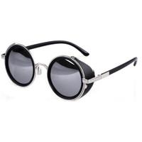 Wholesale mens circle sunglasses - Wholesale-Summer Style Vintage Round Unisex Glasses Fashion Steampunk Metal Mens Womens Retro Circle Sunglasses 6 Colors GS-0207