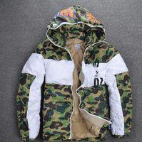 Wholesale Retro Hip Hop Clothing - ma1 jacket Hip Hop kanye west Cotton clothes Logo Box ARC LOGO Mens jacket jaqueta masculino retro high street Denim Jacket