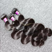 Wholesale 4pcs Wavy Virgin Hair - 7A 100% Peruvian Hair Weave Virgin Hair Extensions Natural Color Body Wave Wavy Hair Weaves Weft 8~30inch Mix length 4pcs lot Free Shipping
