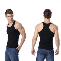Wholesale Singlet Tshirts - Mens Vest Men Tank Top Tees Sleeveless Solid Tshirts,Singlets Casual Undershirts Bodybuilding Muscle Clothes sexy Gay Shirt Corset underwear