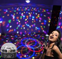 yeni led disko ışıkları toptan satış-Yeni 9 LED DMX 512 uzaktan kumanda Güzel Kristal Sihirli Etkisi Topu ışık DMX Disko DJ Sahne Aydınlatma Oynamak 110 v-240 v