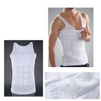 Wholesale Men Underwear Vest Green - 2016 Hot Men's Sexy Slimming Tummy Body Shaper Belly Fatty Thermal Slim Lift Underwear Men Sport Vest Shirt Corset Shapewear Reducers Men's