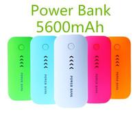mobil güç kaynağı pili toptan satış-Yeni marka Güç Bankası 5600 mah Büyük kapasiteli Ultra-ince Evrensel Mobil güç kaynağı Şarj Pil Için Galaxy S5 iPhone 5 6