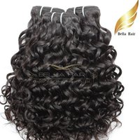 """Wholesale Natural Human Hair Extensions 24 - Peruvian Hair Weaves Water Wave Natural Human Hair Extensions Double Weft Natural Color 8""""-34"""" 3pcs lot Hair Weaves Bellahair"""