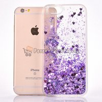 Wholesale Cheapest Iphone For Sale - Cheapest! Dynamic Liquid Quicksand Glitter Phone Cases For iPhone 6 6plus PC Hard Cell Phones Back Cover Free Shipping 10pcs hot sale