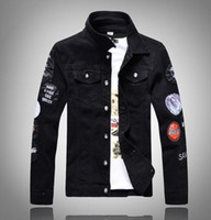 Оптово-VXO Denim Jacket Men 2017 Fashion Long Sleeve Design Mens Slim Jacket Men Casual Стильные джинсы Мужская одежда