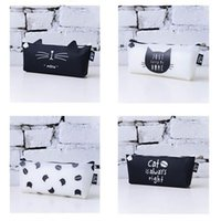 Wholesale Cute Animal Pencil Cases - Wholesale-2016 Fashion Cute Kawaii Pencil Case Lovely Cartoon Cat School Pencil Case School Kids Pencil Box Animals Supply Stationery