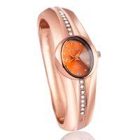 Wholesale A6 Glass - A6 Newest New hot sell Fashion women quartz watches popular designer rhinestone watch rose gold ladies Bangle Watch relogio feminino