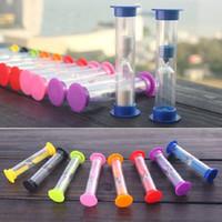 Wholesale Clock Tubes - Mini Sandglass Hourglass Sand Clock Timer 60 Seconds 1 Minute Glass Tube E00037 OST