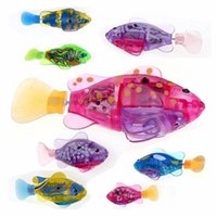 Wholesale Fish Tank Toys - 1pcs Funny Swim Electronic Robofish Activated Battery Powered Robo Toy Fish Robotic Pet for Fishing Tank Decorating Fish