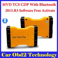 Wholesale Car Renault - 2015.R3 Mulit Vehicle Diag MVD With Bluetooth Same Function As TCS CDP Pro For Cars amd Trucks 3 IN1 + Carton box Free Shipping