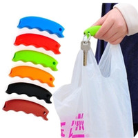 Wholesale grocery carrier - Hot Simple Silicone Shopping Bag Basket Carrier Bag Carrier Grocery Holder Handle Comfortable Grip Grips Effort-Save Body Mechanics IB361