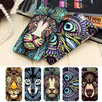 roi lion achat en gros de-Animaux Lion Wolf Owl Pattern Housse de téléphone Hard Back pour iPhone se 5s 6 s 7 Plus Glow In Dark Luminous Forest King