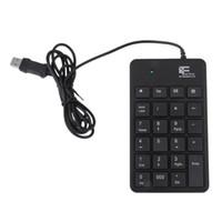 dizüstü için usb tuş takımı toptan satış-Yeni Mini 23-Keys USB Numarası Pad Tuş Takımı Sayısal Klavye Dizüstü Dizüstü Ücretsiz Nakliye Için