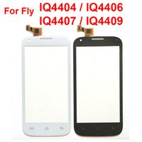 Wholesale Digitizer Flying - Top Quality For Fly IQ4404 IQ4406 IQ4407 IQ4409 Touch Screen Digitizer Panel Front Glass Lens Sensor Parts