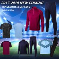 Wholesale Youth Boys Jackets - 2018 MEN YOUTH City Tranning KITS outfits Tracksuits Jacket Pants DE BYUYNE STERLING KUN AGUERO KOMPANY KID jersey HOT BOY