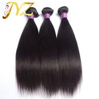 3 adet 26 düz perulu saç toptan satış-İnsan Saç Ürünleri 3 adet çok Brezilyalı Hint Perulu Malezya Saç Düz, 100% Işlenmemiş Saç Uzantıları Nakliye Ücretsiz