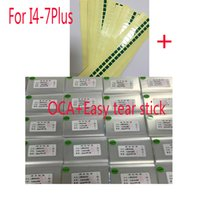 Wholesale Iphone Touch Stick - Wholesale 50pcs 250um OCA Optical Clear Adhesive for iPhone 5 5S 5C 4 4s 6 6s 7 plus OCA Glue Touch Glass Lens Film with easy tear stick