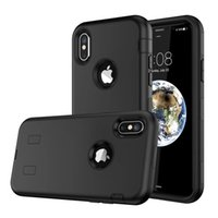 Full Body Defender Rugged Heavy Duty Housse de protection antichoc pour Apple iphone X 10 Dual Layer Military Drop Tested Armor Hard Shell