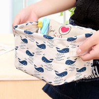 Wholesale Jewelry Fabric Packaging - Admission package Desktop Storage Box Holder Cute Cotton House Lino Organizer Jewelry Box Cosmetic Box Desk Organizer