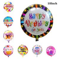 Wholesale Hot Air Balloons Toys - 2016 Real Hot Sale Kids Toys ( 50 Pieces   Lot ) 18 Inch Helium Balloon Round Foil Balloons Happy Birthday Decoration Inflatable Air Bubble