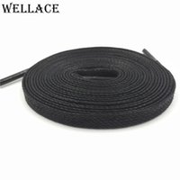 Wholesale Decorations For Boots - Wellace Unisex 100% Cotton Waxed Shoe Laces waterproof shoelaces for Casual shoes boots Flat wax widen Shoelaces 150cm 59''