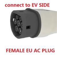 Wholesale Car Ev - European Standard AC Female Plug Connect to EV Side IEC62196 16A 250V AC Charging Plug & Sockets for Cars GNED023
