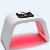 mavi led ışık yüz toptan satış-Kore Taşınabilir OMEGA Işık led pdt Terapi Kırmızı Mavi Yeşil Sarı Yüz vücut Işık Fototerapi Lamba Cilt Bakımı Makinesi yüz gençleştirme