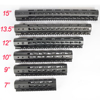 7 9 10 12 13.5 15 Inch Ultralight KeyMod Free Float Handguard Monothilic top rail Steel barrel nut Fit.223 5.56