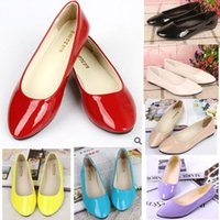 Wholesale Pointed Toe Flats Size 42 - 2016 Womens Flats Top Quality Casual Woman Loafers Shoes Spring Autumn Fashion Women's Flats PU Leather Pointed Toe Plus size 35-42