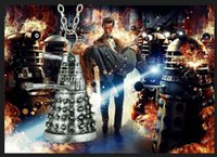 Wholesale Animal Robots - Doctor Who Dalek Robot Pendant Necklace Alien Robot Mysterious Ancient Silver Pendant Jewelry Statement Necklace Pendant