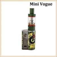 Wholesale Plastic Army Tanks - Cool Design Mini Vogue 50W Kit With Army Green Color Mini Riptide Tank 2ML adjustable Voltage Mod Free Shipping