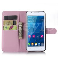 Wholesale Duos Wallet - For Samsung S5 Grand Duos J1 Wallet PU Leather Case Cover Pouch With Card Slot Photo Frame in Opp Package