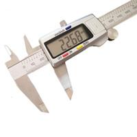 "Wholesale Digital Mm Gauges - Wholesale-Measuring Tool Promotion Digital Micrometer 2016 New 6"" 150 Mm Digital Caliper Vernier Gauge Micrometer Paquimetro Electronic"