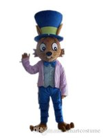 Wholesale Big Cats Mascot - SX0723 Light and easy to wear a cat mascot costume with a big hat for adult to wear
