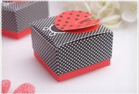 Wholesale Ladybug Favor - Ladybug Wedding Party Favor Boxes Baby Shower Favors Wedding Supplies Gift Candy Box Party Supplies Favor Holders