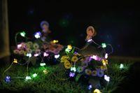 ventes de noël achat en gros de-Les lampes en forme de papillon extérieur ont mené les lumières de ficelle de nouveauté AA à piles de fil de cuivre Noël de Noël LED ficelles guirlandes de vente