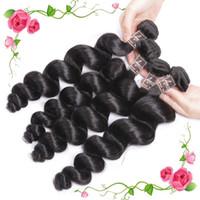 Wholesale Cambodian Loose Waves - Brazilian Virgin Hair loose Wave 100% Human Bundles Unprocessed Peruvian Malaysian Indian Cambodian Mongolian Remy Hair Extensions